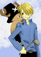 Sanji and Chopper by Sasami999