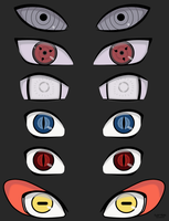 Naruto Eyes Study by Lu-So