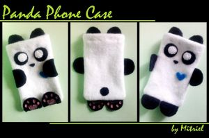 Panda mobile phone case by Mitriel