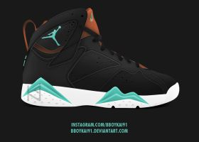 Air Jordan 7 'Mint' by BBoyKai91