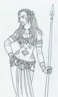 Morrigan Spearbearer by KidaGreenleaf