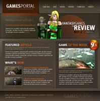 Games layout psd html FREE:10 by 14koles14