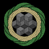 Cubes and Spirals (colored) by MartchZagorski