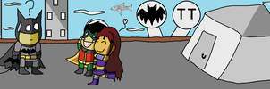 Scribblenauts contest entry: Batman meet Starfire! by Emily-Young