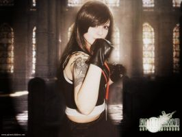 'No Giving Up!' - Tifa Lockhart FF7 AC Cosplay by Aerithflowergirl5678