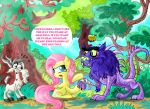 Fluttershy, the Chupacabra is hungry... by seriousdog
