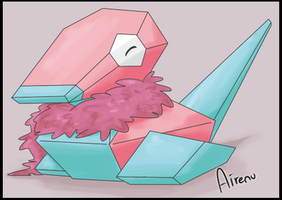 Porygon just wants to be fluffy by Airenu-ish