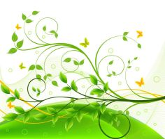 Green-Floral-Background1 by vectorbackgrounds