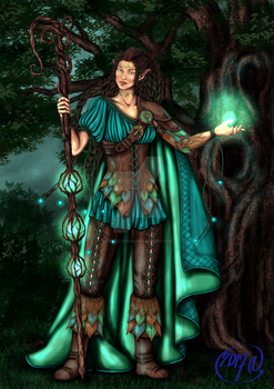 Wood Elf Witch by Yagellonica