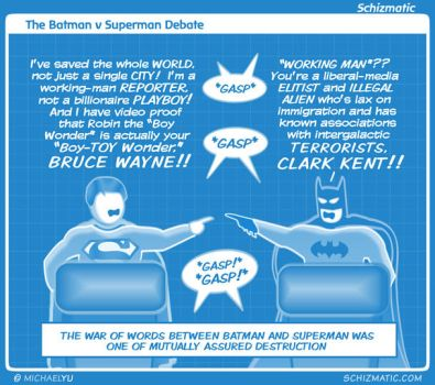 The Batman v Superman Debate by schizmatic