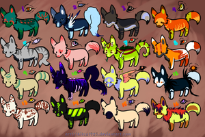 20 points wolf adoptables OPEN by creative-adoptions