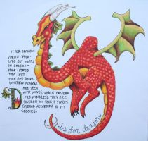 D is for Dragon by HayBay