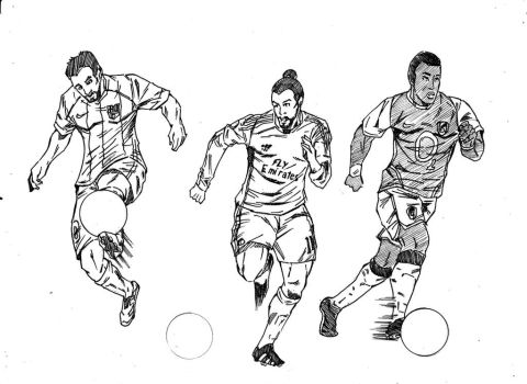 Soccer Sketch Art by TuananhCong