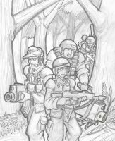 Cadians moving out by DarkCloak