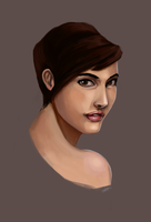 Browneyed woman . by Tpose