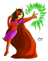 Scarlet Witch Color by Cartoon-Eric