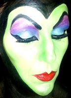 Face Painting Maleficent by facepaintingparadise