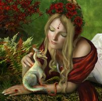 Pondering - detail by CassiopeiaArt