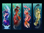 Mermaids and Mermen by iZince