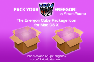 Energon Cube Package icons by lecielazure