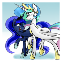 Luna and Celestia by Oscarina1234