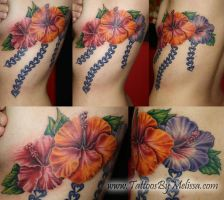 Hibiscus flower on Ribs by Melissa-Capo