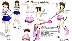 MMD- Magical Girl DL by Shioku-990