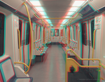 Metro Madrid Linea 5 3D Anaglyph (red/cyan) by nadamas