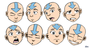 Aang Faces 1 by AmiraElizabeth
