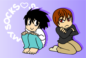 Chibi Death Note by SonicRocksMySocks