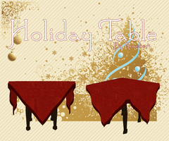 MMD - Holiday Table + DL by RoseBeri