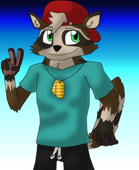 Slyker the Raccoon by Buijesty
