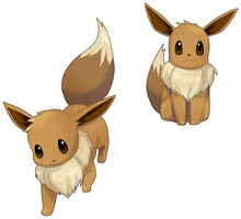 Eevees by Gill-Goo