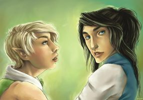 .Nismet and Tebryn - Commish. by Lii-chan