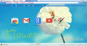 Tema de google chrome Flower by meri-love by meri-love