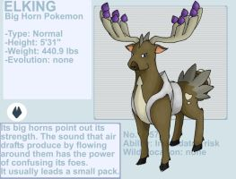 Elking fakemon by byona