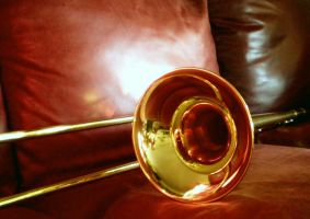 Trombone and Red Leather by SaraSchool