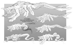 Leviathan - Creature Concept Work by Orhasket