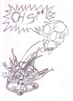 Flying Toads Equals Fun sketch by ToxicThunder