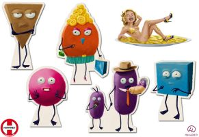 Happiness - target characters by Homelet