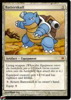 Blastoise's Batterskull by BlackWingStudio