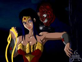 Wonder Woman vs Two Face by kurotsuchi-666