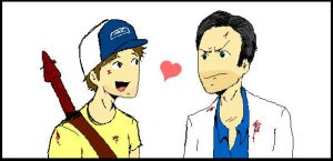 Ellis and Nick :D by FoxyRoxy237