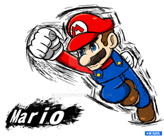 Smash Art: Mario by Hawke525