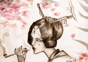 geisha called sakura by kika1983