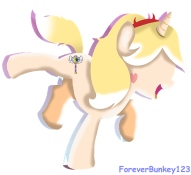 Star Butterfly Pony (Vector) by ForeverBunkey123