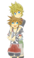 Ventus and Sora Render by AeroxVentusxYuni