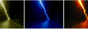 Lights in a tunnel by cilie