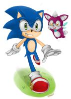Sonic and Chip by chobitsG