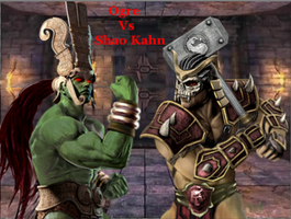 Ogre Vs Shao Kahn by Tony-Antwonio